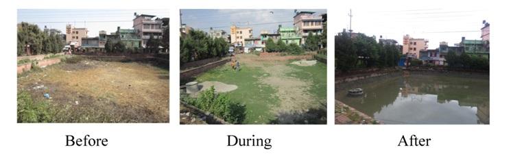 Bhuikhel pond restored